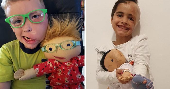Fotky, co vás rozpláčou! Tato žena vyrábí panenky pro postižené děti: Vypadají jako ony!
